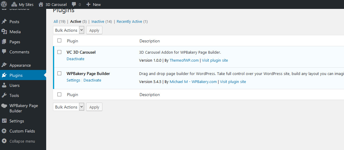 3D Carousel Addon for WPBakery Page Builder