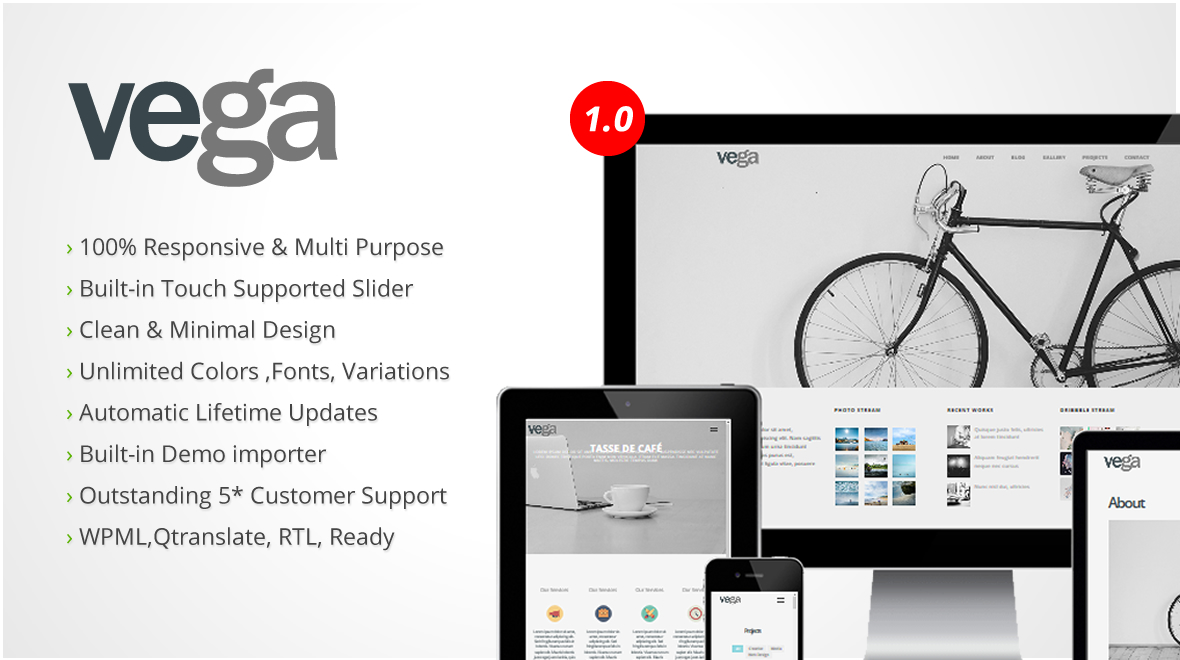 Vega Photography Personal Multipurpose WordPress Theme