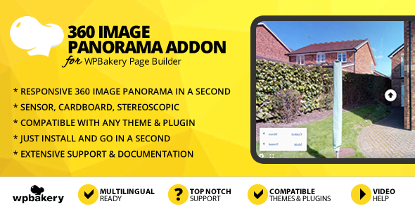 360 Image Panorama Addon for WPBakery Page Builder