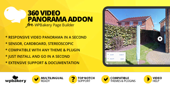 360 Video Panorama Addon for WPBakery Page Builder
