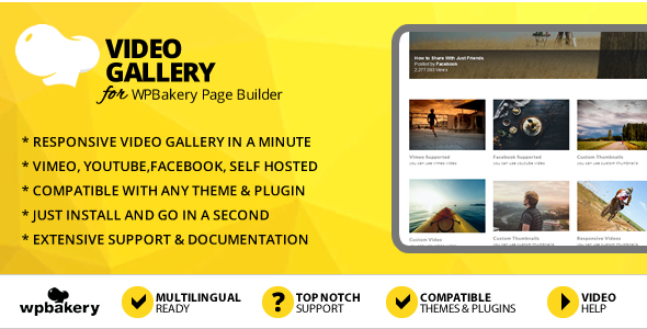 Elegant Mega Addons for WPBakery Page Builder Video Gallery Module