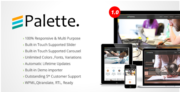 Palette Ultra Premium Multipurpose WordPress Theme
