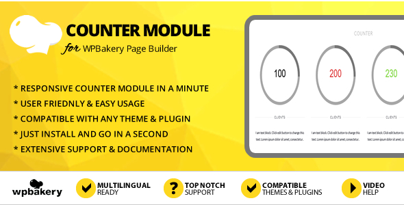 Elegant Mega Addons Counter Module for WPBakery Page Builder