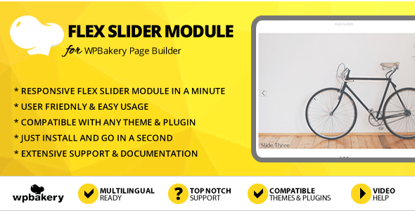 Elegant Mega Addons Flex Slider Module for WPBakery Page Builder