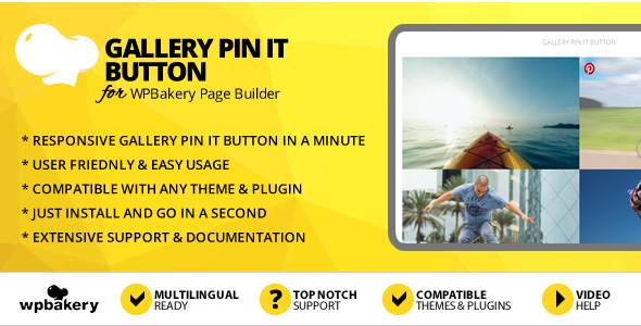 Elegant Mega Addons Gallery PinIt Button Module for WPBakery Page Builder