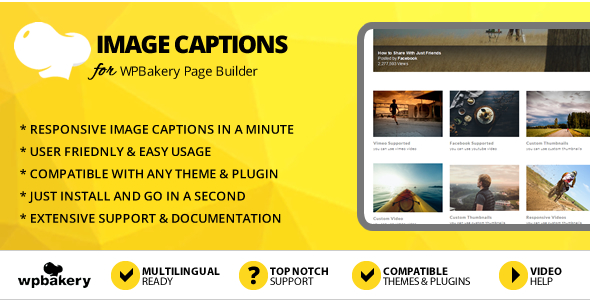 Elegant Mega Addons Image Captions for WPBakery Page Builder