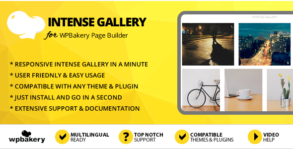 Elegant Mega Addons Intense Gallery for WPBakery Page Builder