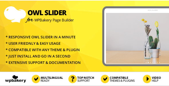 Elegant Mega Addons Owl Slider for WPBakery Page Builder