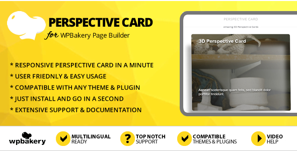 Elegant Mega Addons Perspective Card for WPBakery Page Builder