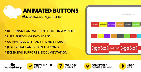 Elegant Mega Addons Animated Buttons Module for WPBakery Page Builder