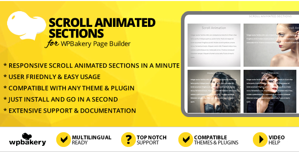 Elegant Mega Addons Scroll Animated Sections for WPBakery Page Builder