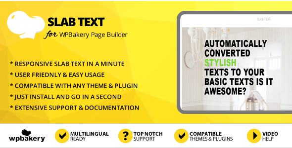 Elegant Mega Addons Slab Text for WPBakery Page Builder