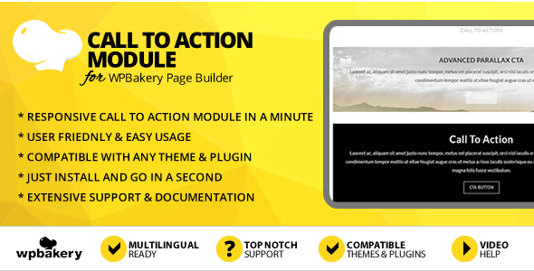Elegant Mega Addons Call to Action Module for WPBakery Page Builder