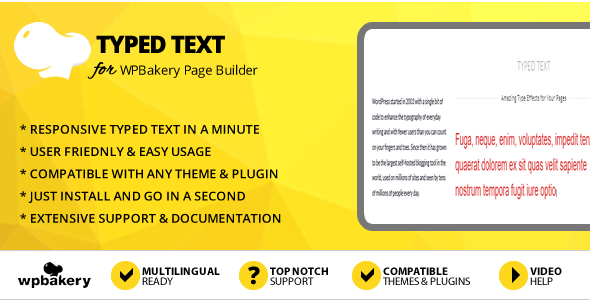 Elegant Mega Addons Typed Text for WPBakery Page Builder
