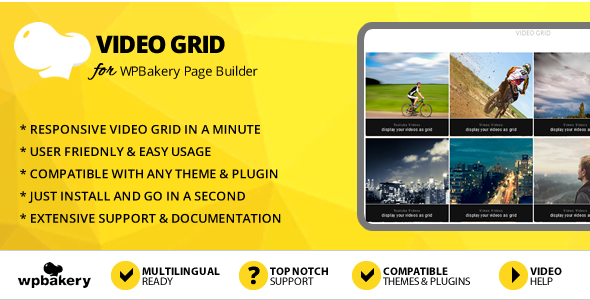 Elegant Mega Addons Video Grid for WPBakery Page Builder