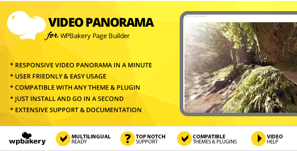 Elegant Mega Addons Video Panorama for WPBakery Page Builder