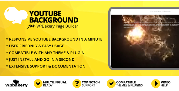 Elegant Mega Addons Youtube Background for WPBakery Page Builder